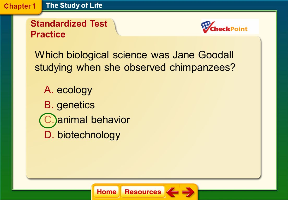 Which biological science was Jane Goodall