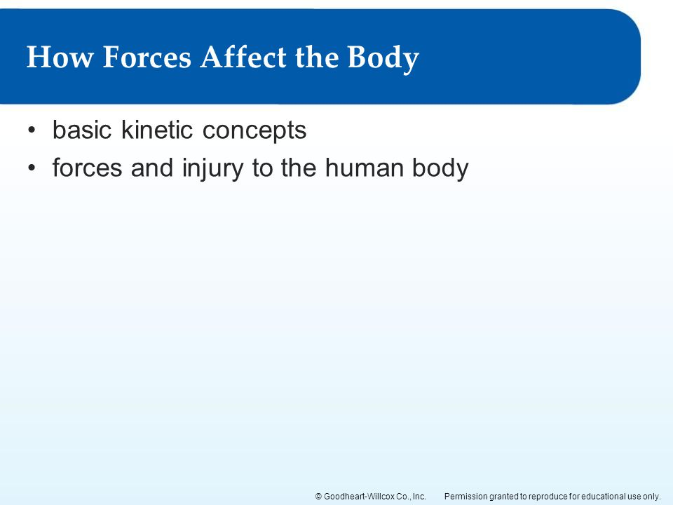 How Forces Affect the Body