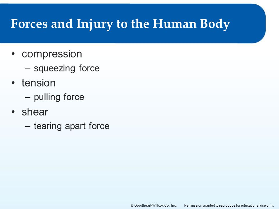 Forces and Injury to the Human Body