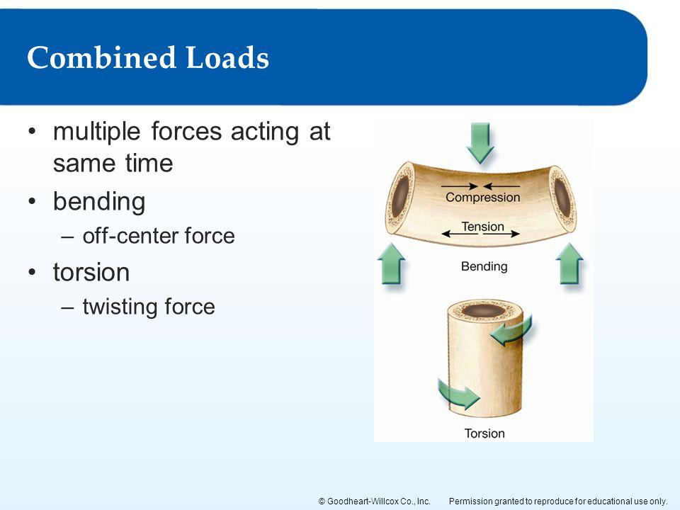 Combined Loads multiple forces acting at same time bending torsion