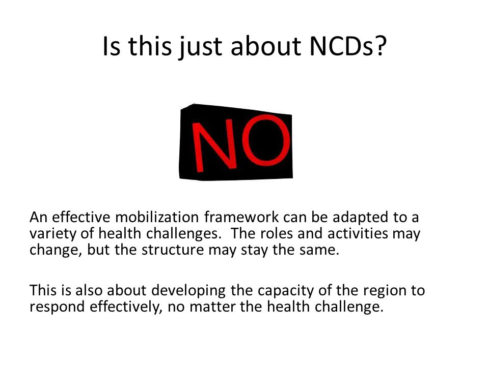 Is this just about NCDs