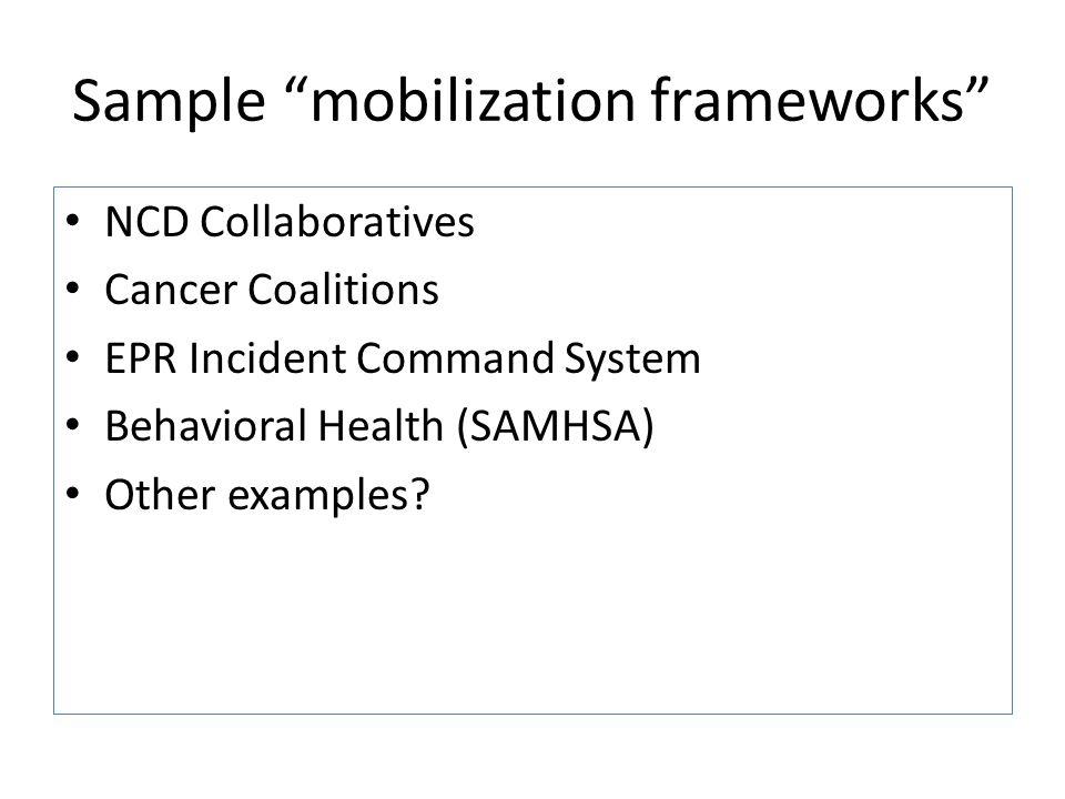 Sample mobilization frameworks