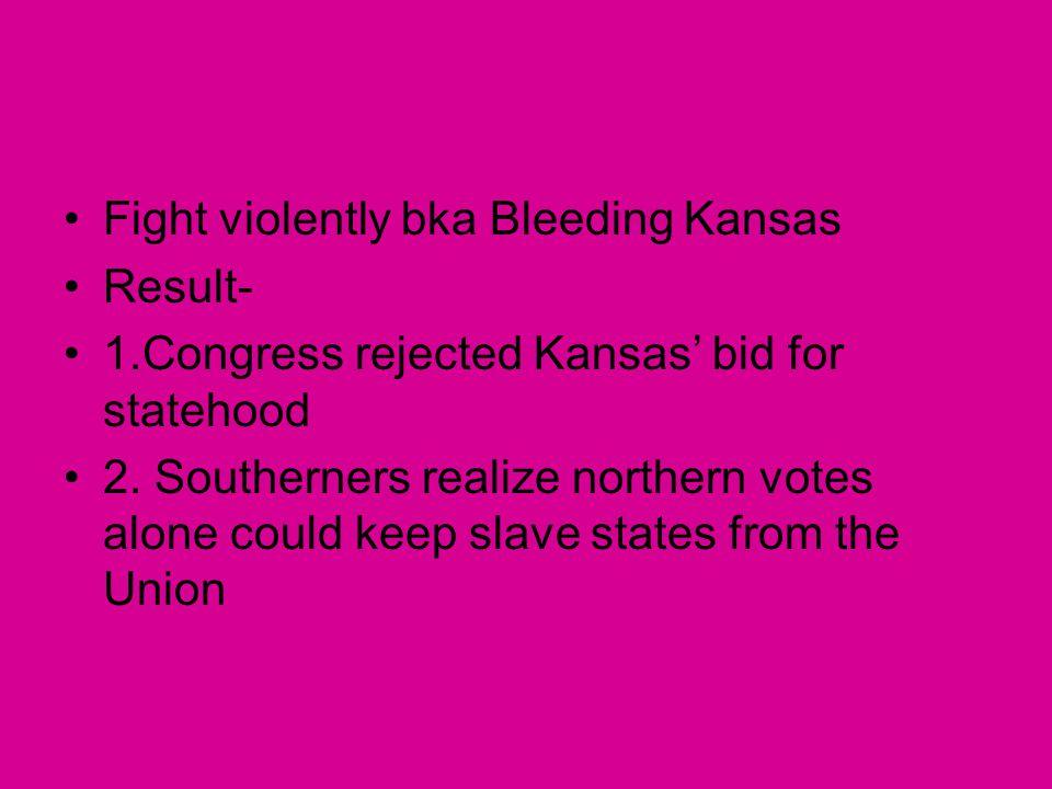 Fight violently bka Bleeding Kansas