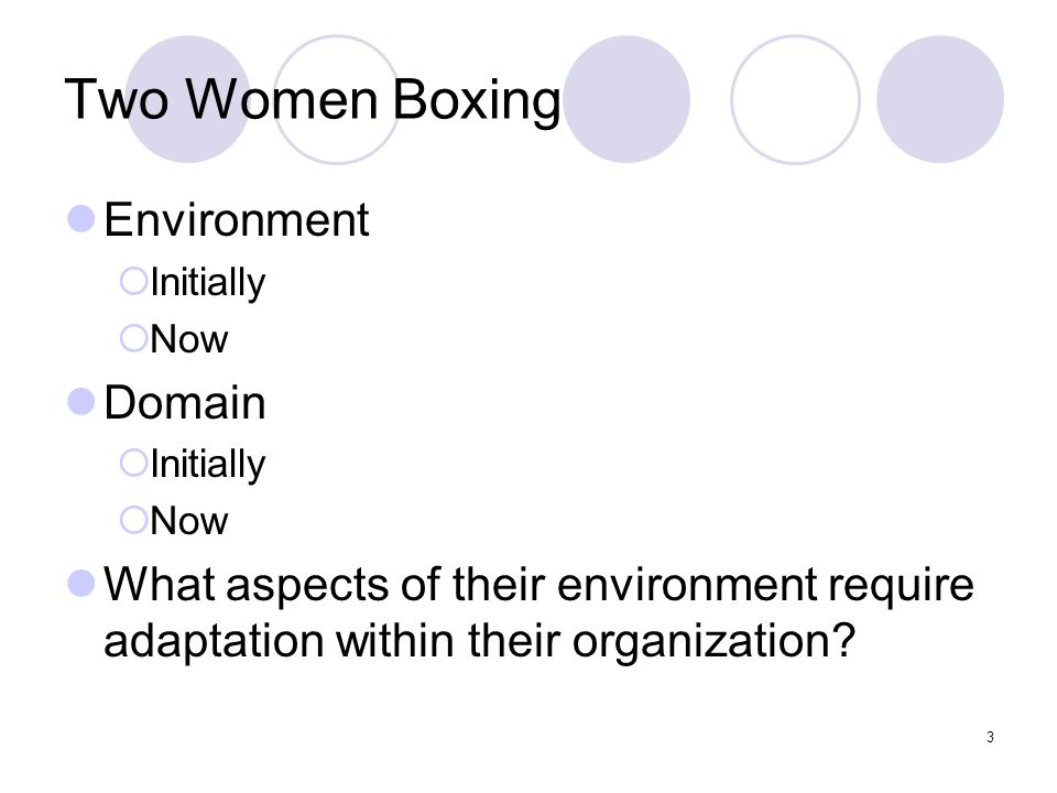 Two Women Boxing Environment Domain