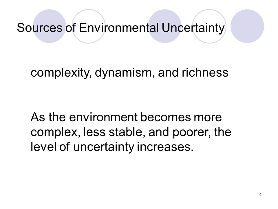 Sources of Environmental Uncertainty