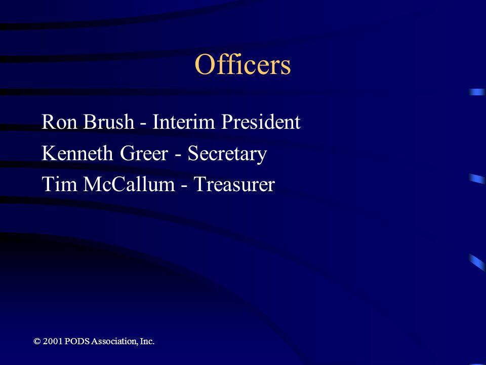 Officers Ron Brush - Interim President Kenneth Greer - Secretary