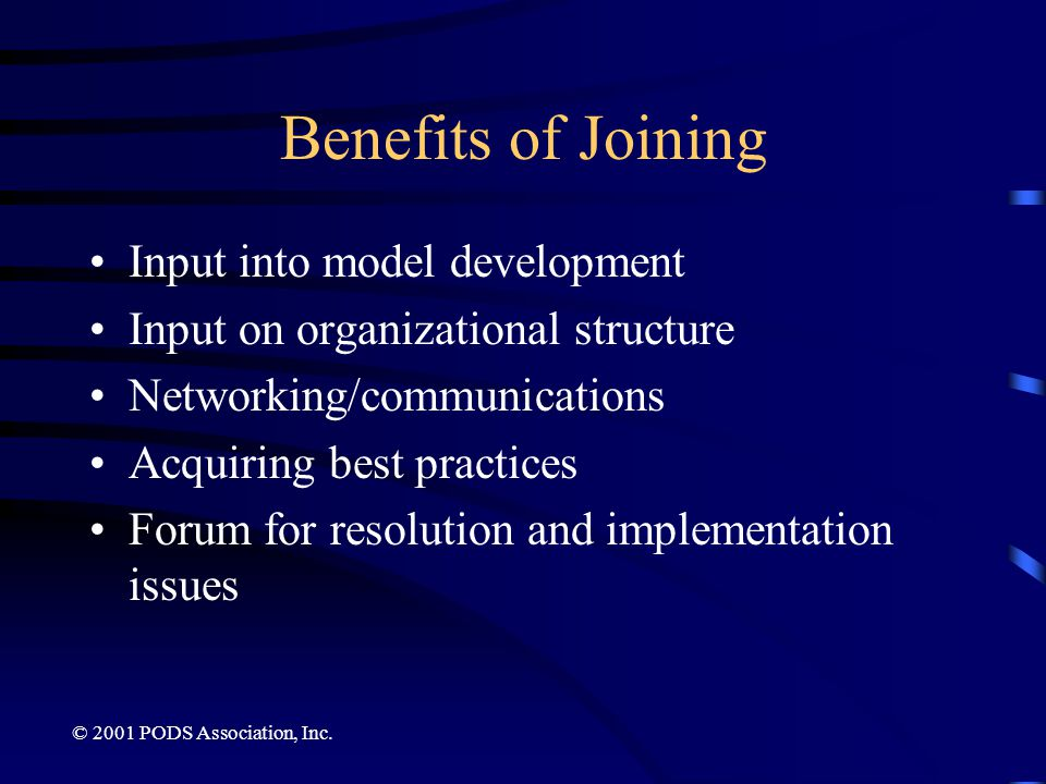 Benefits of Joining Input into model development