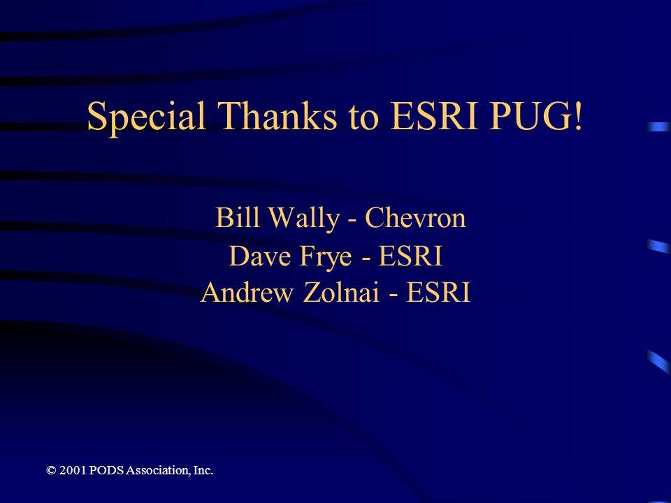 Special Thanks to ESRI PUG