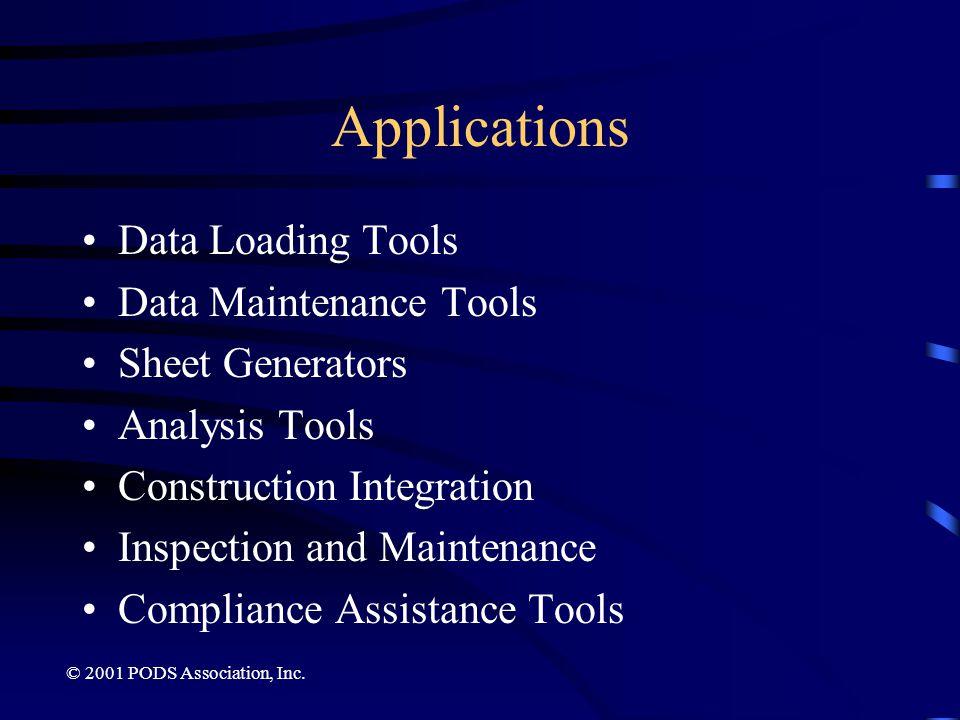 Applications Data Loading Tools Data Maintenance Tools