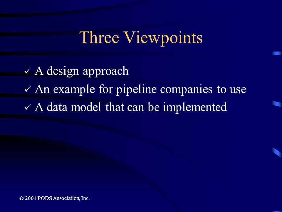 Three Viewpoints A design approach