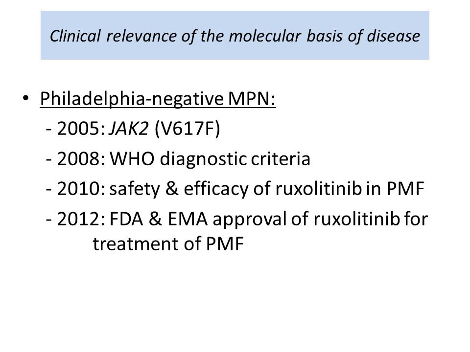 Clinical relevance of the molecular basis of disease