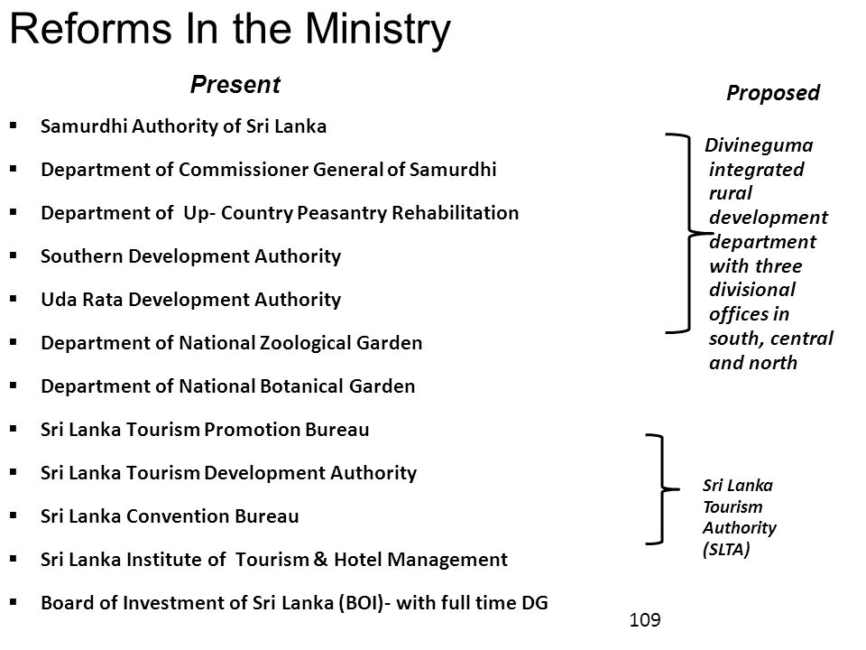 Reforms In the Ministry