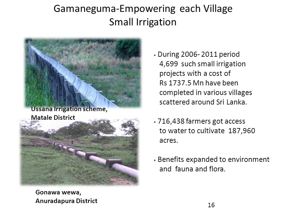 Gamaneguma-Empowering each Village Small Irrigation