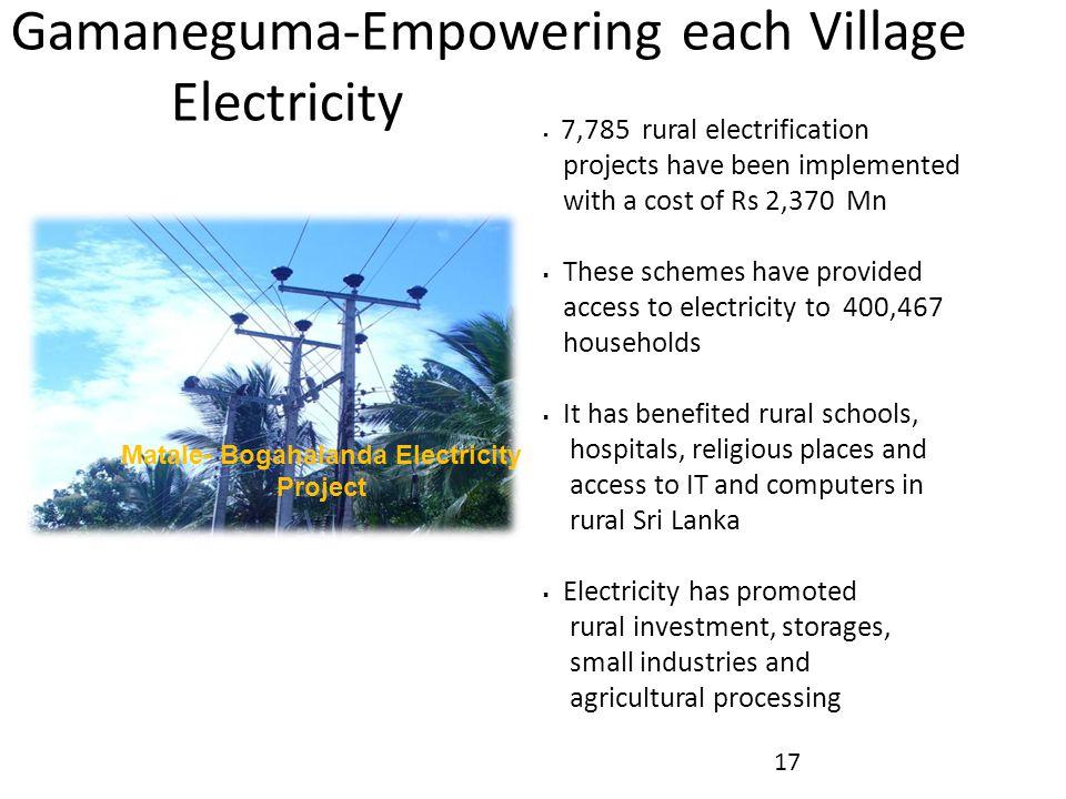 Matale- Bogahalanda Electricity Project