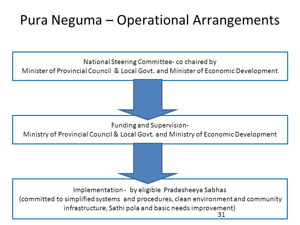 Pura Neguma – Operational Arrangements