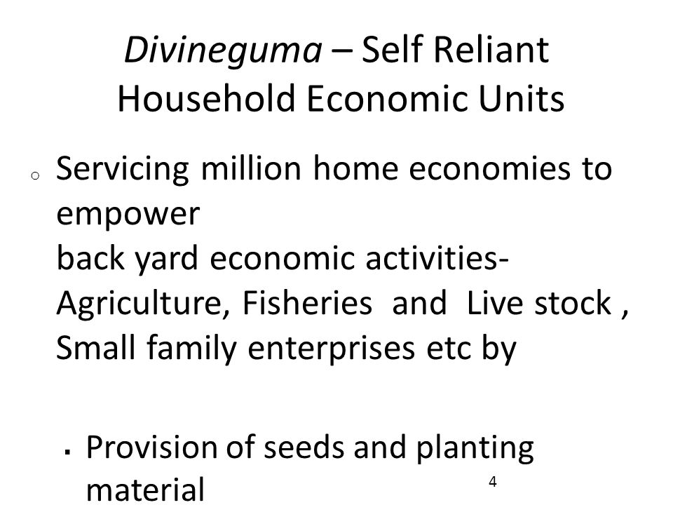 Divineguma – Self Reliant Household Economic Units