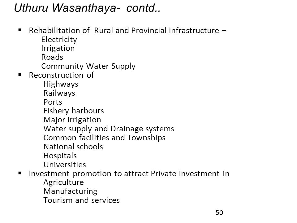 Uthuru Wasanthaya- contd..