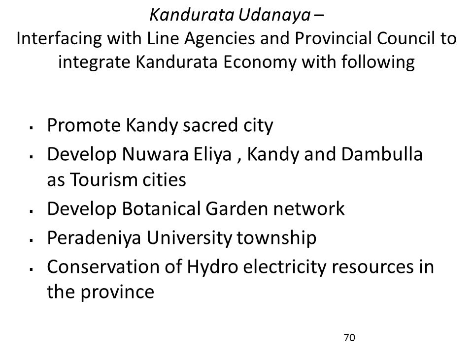 Promote Kandy sacred city