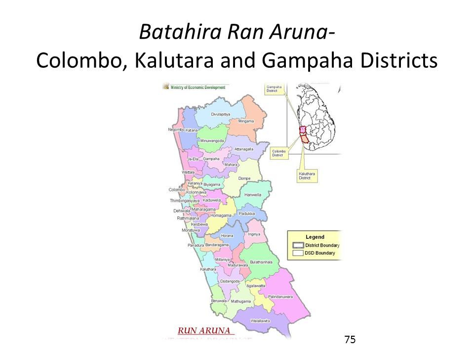 Batahira Ran Aruna- Colombo, Kalutara and Gampaha Districts
