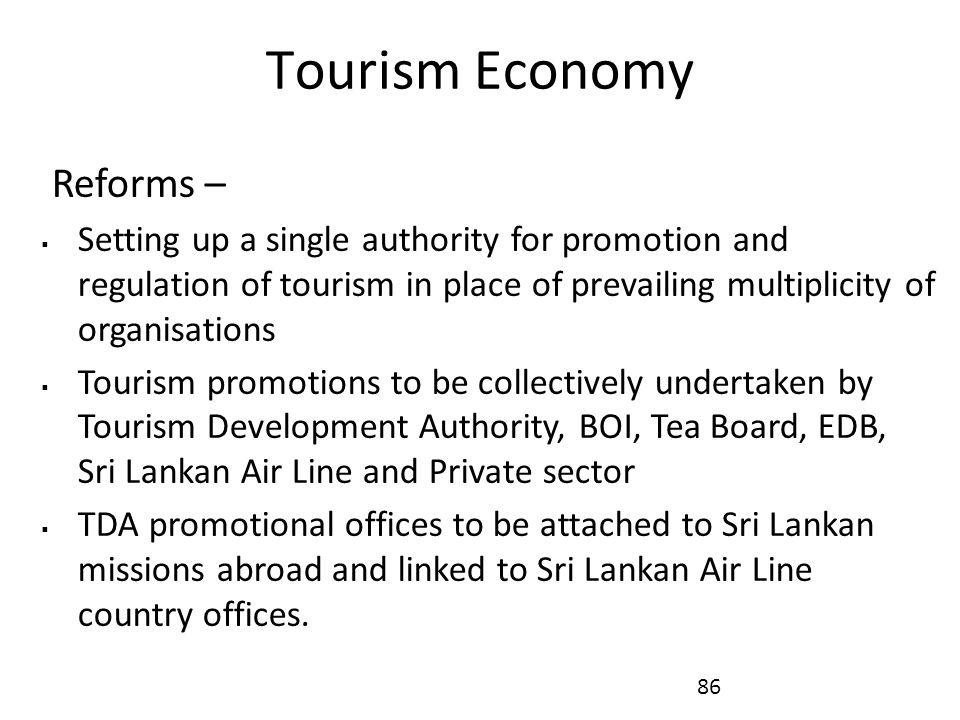 Tourism Economy Reforms –