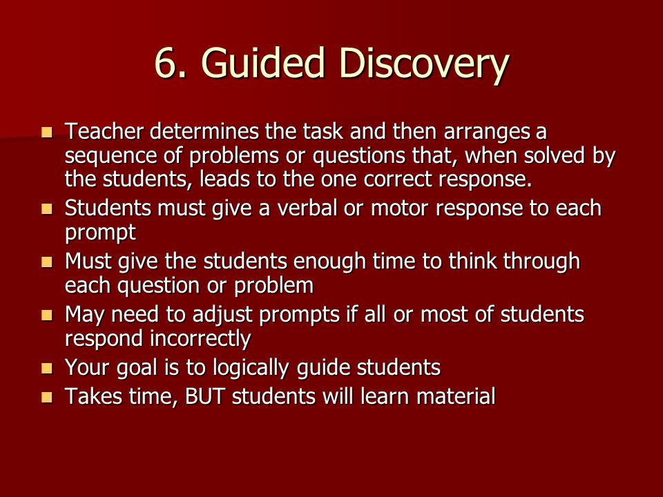 6. Guided Discovery
