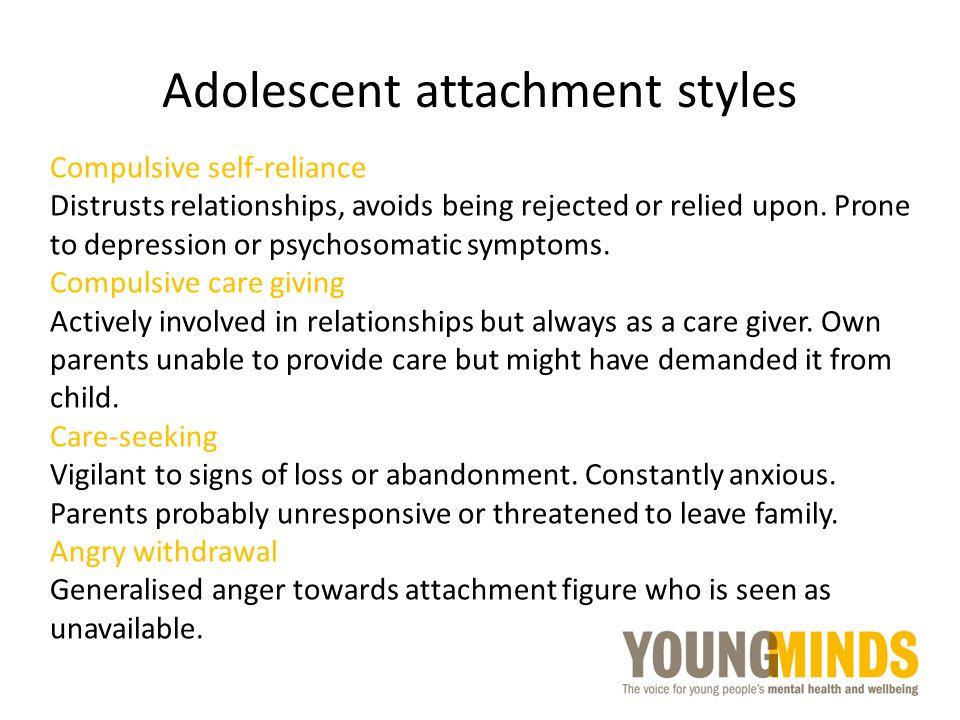 Adolescent attachment styles