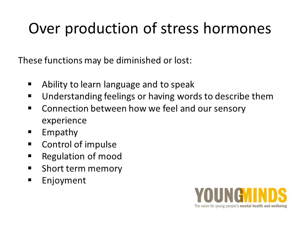 Over production of stress hormones