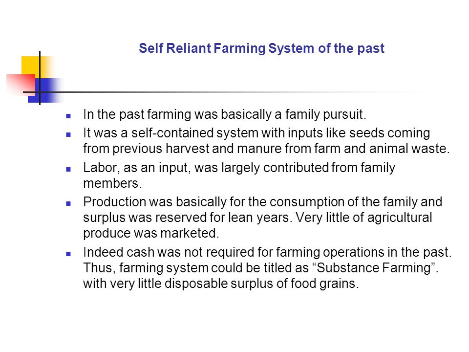 Self Reliant Farming System of the past