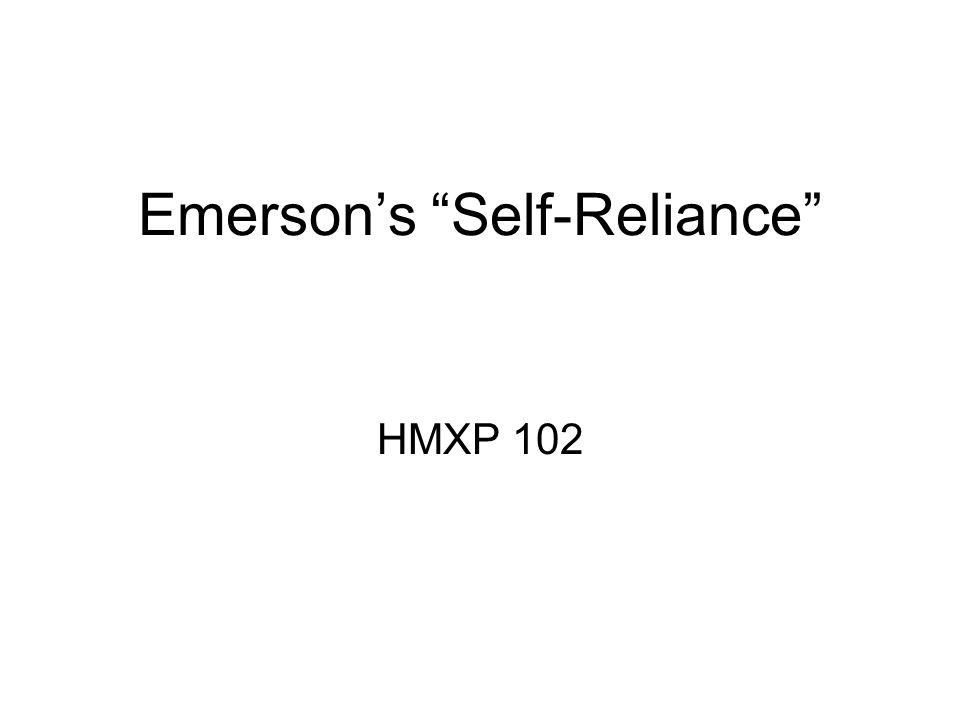 Emerson's Self-Reliance