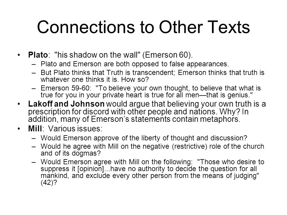 Connections to Other Texts