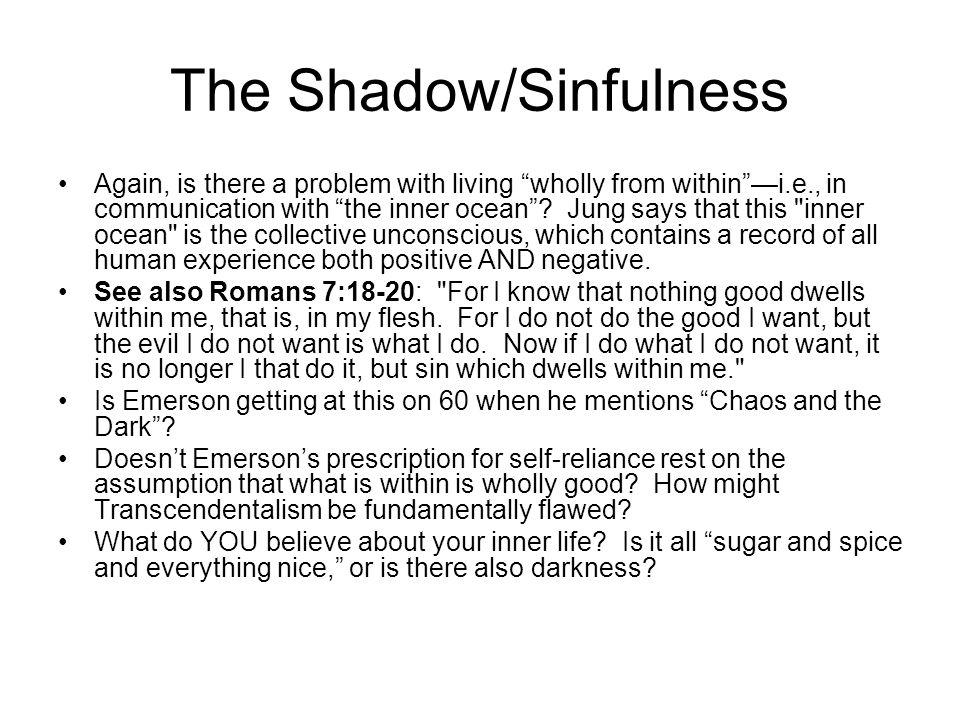 The Shadow/Sinfulness