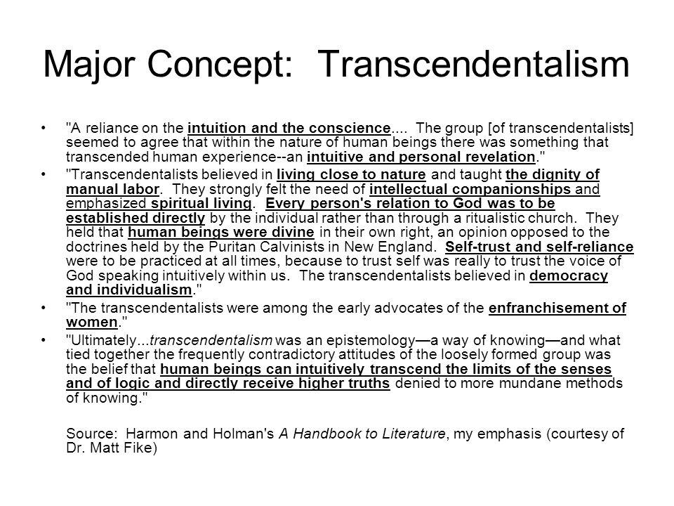 Major Concept: Transcendentalism