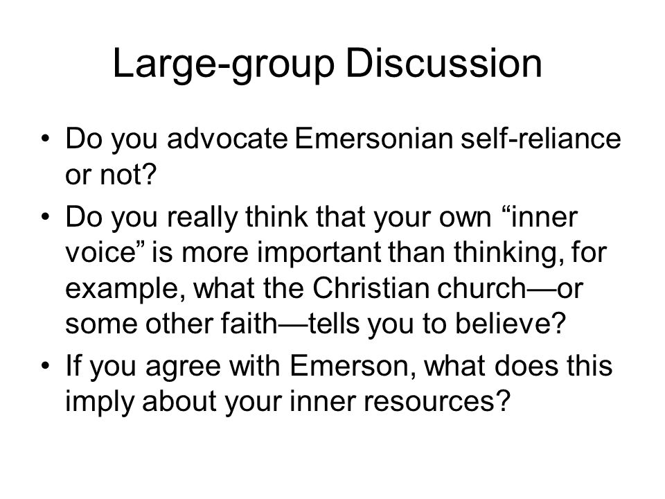 Large-group Discussion