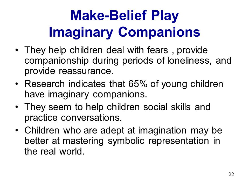 Make-Belief Play Imaginary Companions