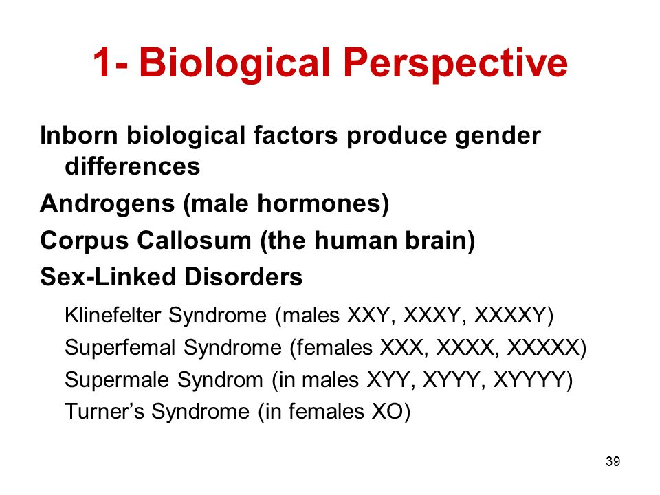1- Biological Perspective