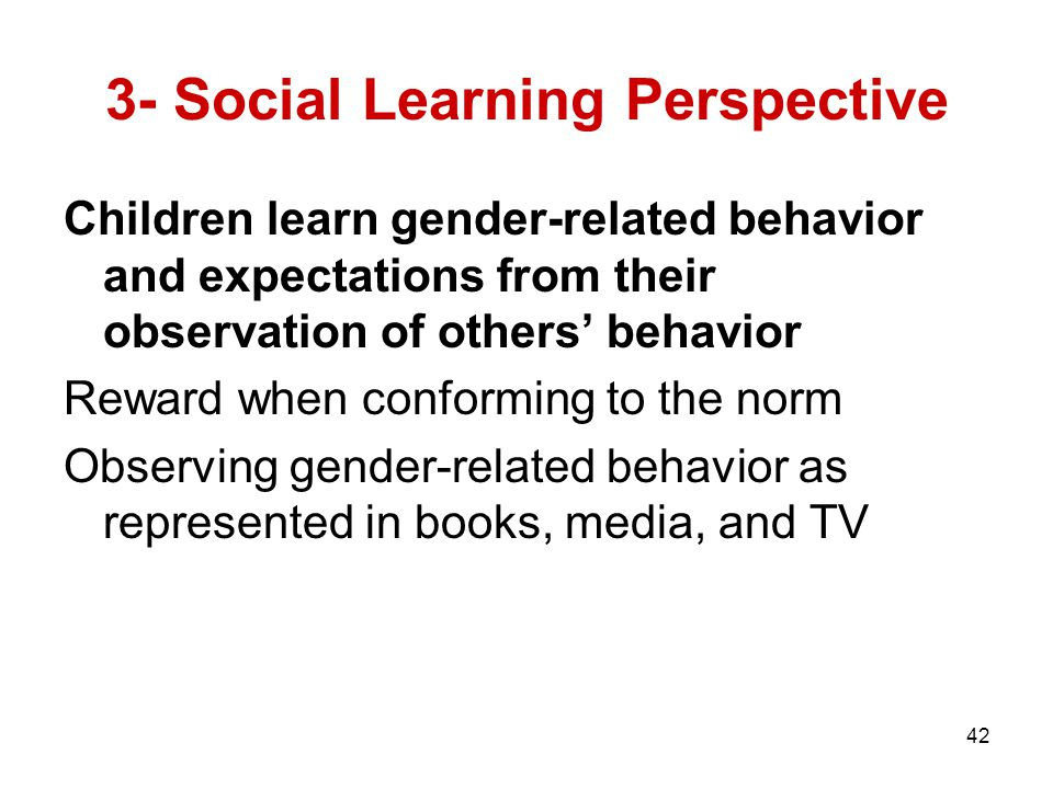 3- Social Learning Perspective
