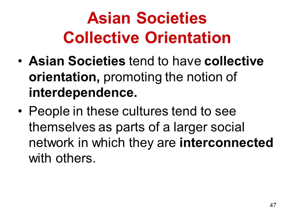 Asian Societies Collective Orientation