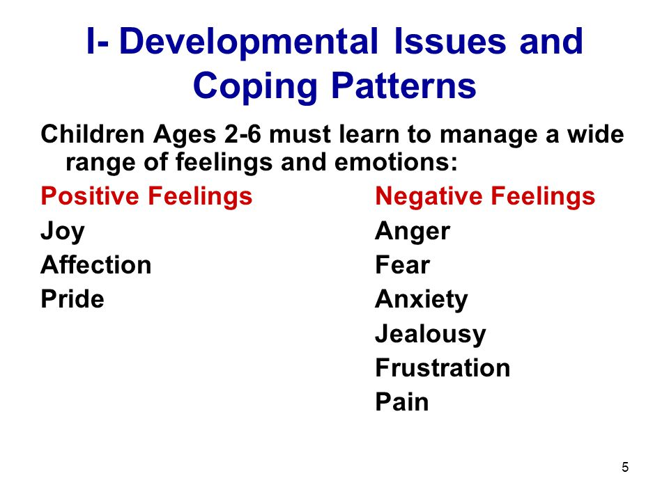 I- Developmental Issues and Coping Patterns