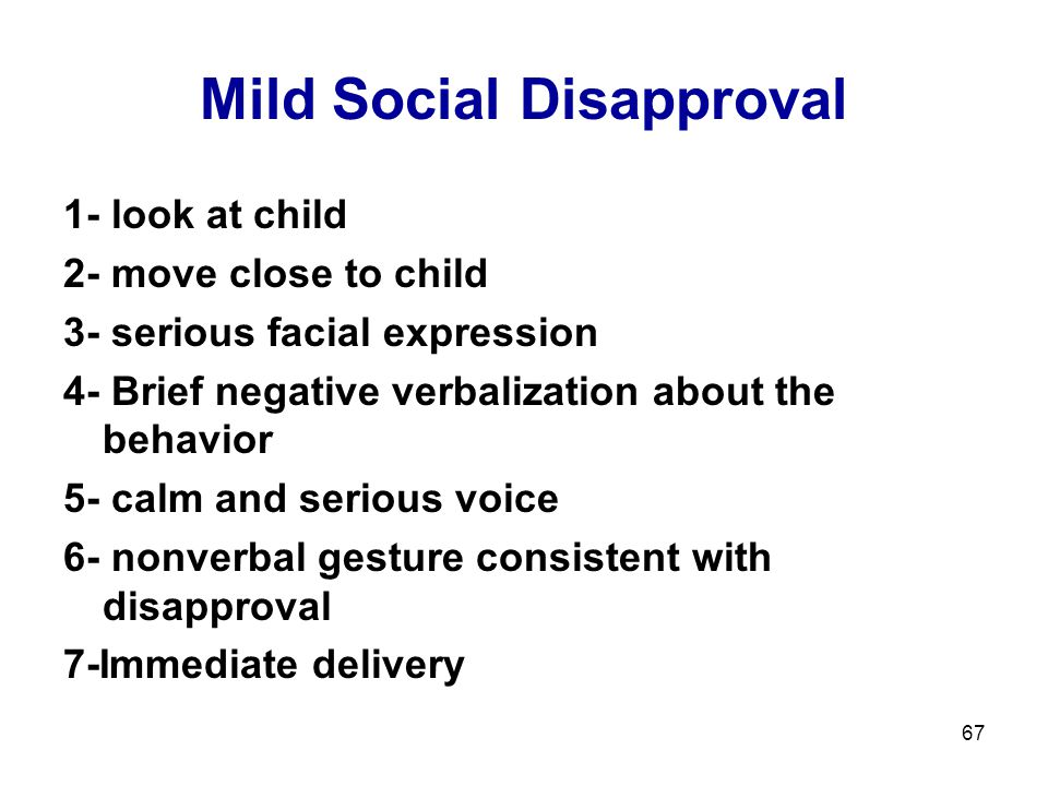 Mild Social Disapproval