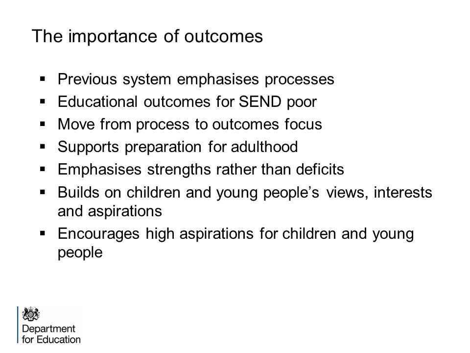 The importance of outcomes