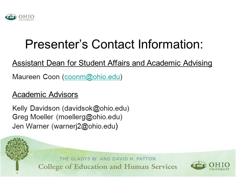 Assistant Dean for Student Affairs and Academic Advising