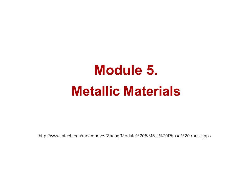 Module 5. Metallic Materials