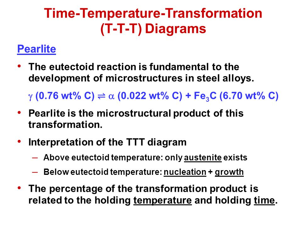 Time-Temperature-Transformation (T-T-T) Diagrams