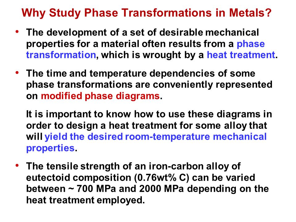 Why Study Phase Transformations in Metals