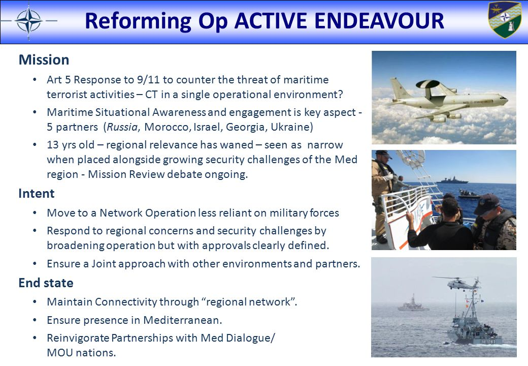 Reforming Op ACTIVE ENDEAVOUR