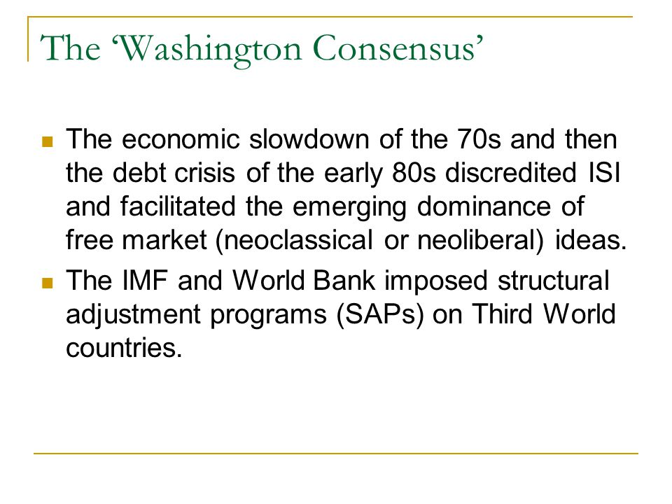 The 'Washington Consensus'