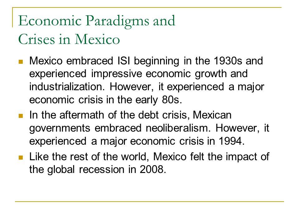 Economic Paradigms and Crises in Mexico