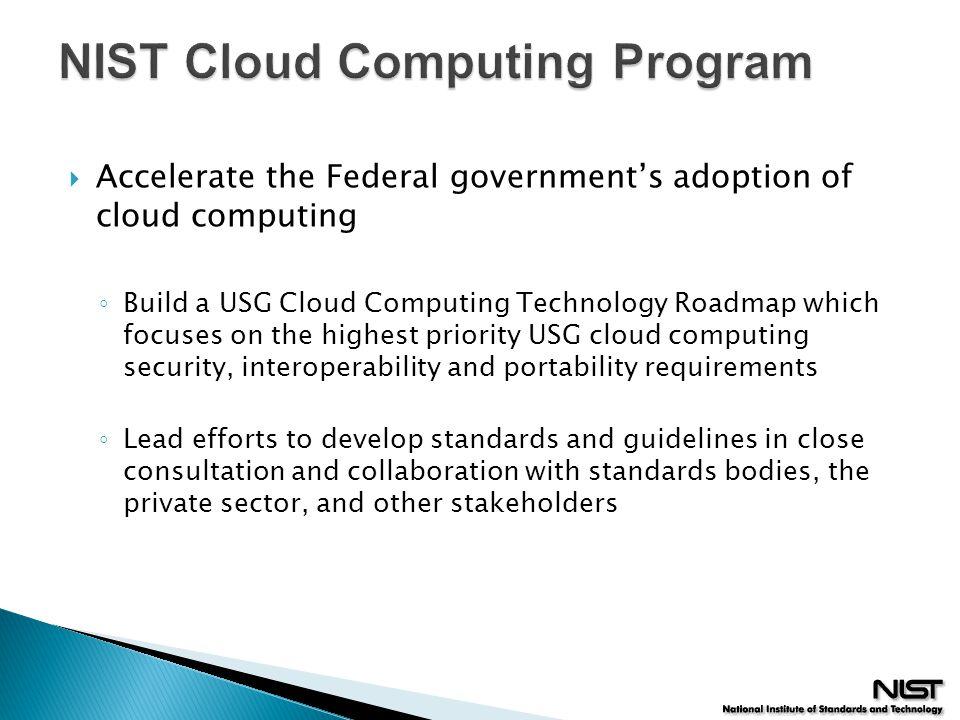 NIST Cloud Computing Program