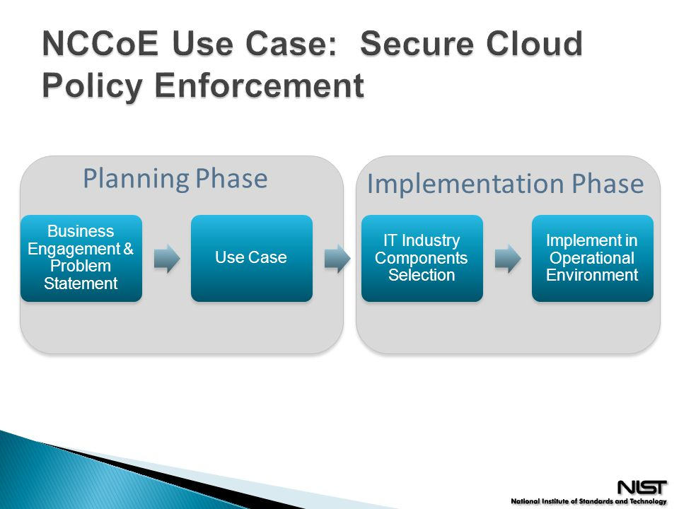 NCCoE Use Case: Secure Cloud Policy Enforcement
