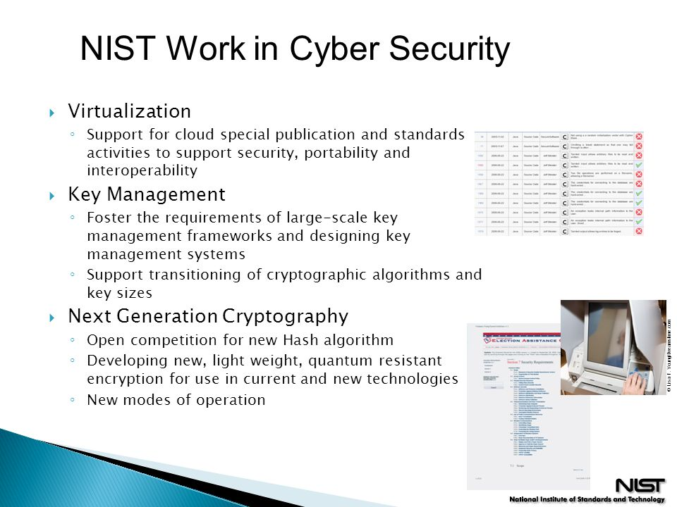 NIST Work in Cyber Security
